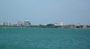 The heart of Sarasota is about 40 minutes southwest of Anna Maria Island.