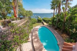 View from balcony of waterfront vacation rental on Anna Maria Island