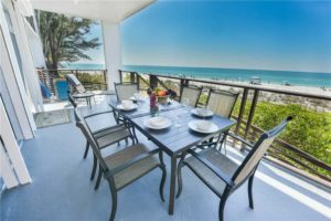 Balcony view from luxury Anna Maria Island vacation rental
