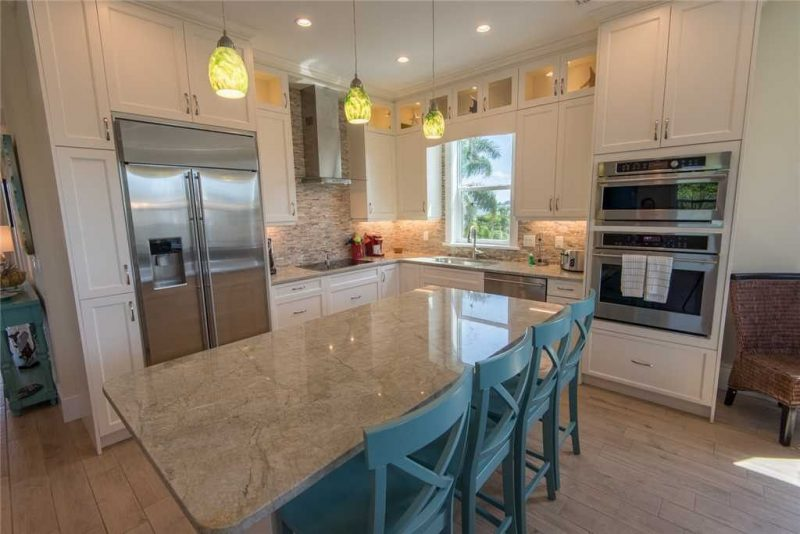 Interior of a open kitchen in Anna Maria Island