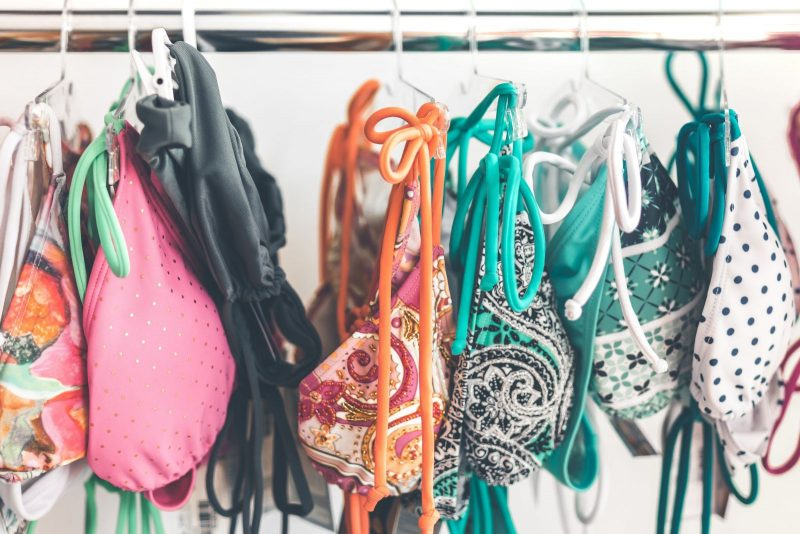 Rack of bathing suits
